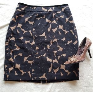 Boden Size 10 Black and Tan Pencil Skirt
